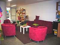 L'entr'acte, maison verte de la Riche , lieu d'accueil parents-enfants à proximité de Tours