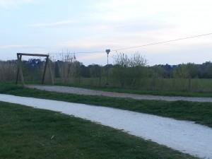 tyrolienne au parc de la Gloriette à Tours