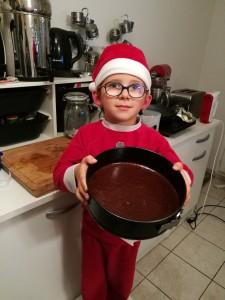 Enfournez le gâteau chocolat