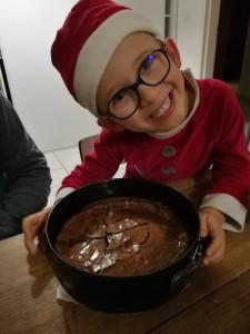 Le fondant au chocolat sorti du four