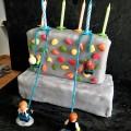 Gâteau escalade anniversaire enfant tours